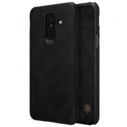 Samsung Galaxy A6 Plus 2018 Nillkin Qin Δερμάτινη Flip Leather Case Black Μαύρο