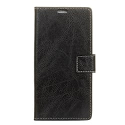 Xiaomi Redmi 6A Θήκη Βιβλίο Μαύρο Retro Crazy Horse Texture Horizontal Flip Leather Case With Holder & Card Black
