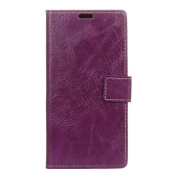 Xiaomi Redmi 6A Θήκη Βιβλίο Μωβ Retro Crazy Horse Texture Horizontal Flip Leather Case With Holder & Card Purple