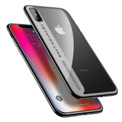 iPhone X CAFELE Amazing Case Electroplating Διάφανη Θήκη Με Μαύρο Περίγραμμα Soft Back Cover Black