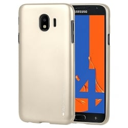 Samsung Galaxy J8 2018 Goospery iJelly Case Θήκη Σιλικόνης Χρυσή Silicone Case Gold