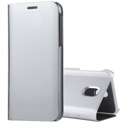 Samsung Galaxy J7 2017 Θήκη Βιβλίο Clear View Stand Silver Ασημί