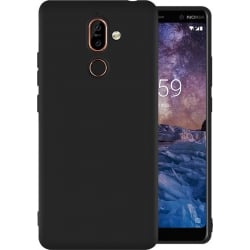 Nokia 7 Plus Σιλικόνης Μαύρη Ultra Shine Silicone Case Black