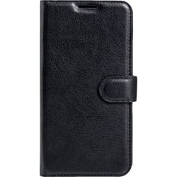Huawei P10 Lite Θήκη Βιβλίο Μαύρο Litchi Texture Horizontal Flip Leather Case With Holder & Card Slots Black