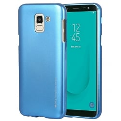 Samsung Galaxy A6 2018 Goospery iJelly Case Θήκη Σιλικόνης Μπλε Silicone Case Blue