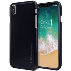 iPhone XS Max Goospery iJelly Case Θήκη Σιλικόνης Μαύρο Silicone Case Black