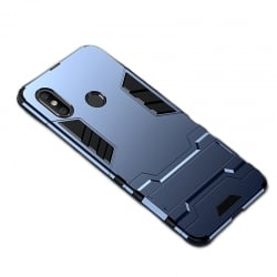 Xiaomi Redmi Note 6 Pro Σκληρή Θήκη Σιλικόνης Shockproof Protective Case with Holder Silicone Case Dark Blue