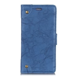 Huawei Mate 20 Lite Θήκη Βιβλίο Μπλε Retro Crazy Horse Texture Horizontal Flip Leather Case with Holder & Card Blue