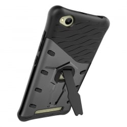 Xiaomi Redmi 4A Θήκη Μαύρο Με Σταντ 360 Degree Spin Tough Armor TPU+PC Combination Case with Holder Black