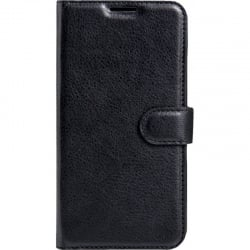 Samsung Galaxy A7 2018 Θήκη Βιβλίο Μαύρο Litchi Texture Horizontal Flip Leather Case With Holder & Card Slots Black