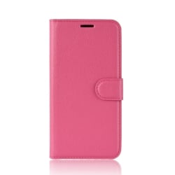 Samsung Galaxy A7 2018 Θήκη Βιβλίο Ροζ Litchi Texture Horizontal Flip Leather Case With Holder & Card Slots Pink