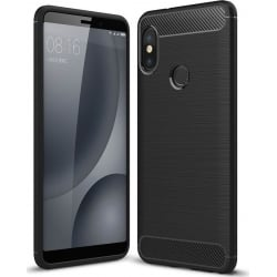 Huawei P Smart Plus Brushed Carbon Θήκη Σιλικόνης Σκούρο Μαύρη Silicone Case Black