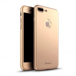 iPhone 7 Plus / 8 Plus IPAKY  Classic 360 (logo hole) Silicone Case Gold