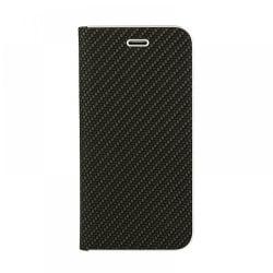 Huawei Y5 2018 VENNUS Carbon Θήκη Βιβλίο Μαύρο Book Case Black