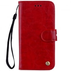 Huawei Y7 Prime 2018 Δερμάτινη Θήκη Βιβλίο Κόκκινo Business Style Flip Leather Book Case Red