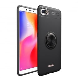 Xiaomi Redmi 6A Θήκη lenuo Shockproof TPU with Invisible Holder Black