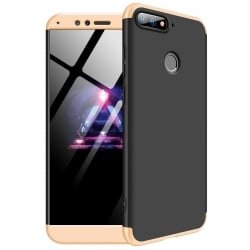 Huawei Y6 Prime 2018 GKK Full Coverage Protective Σκληρή Θήκη Μαύρη - Χρυσό Hard Case Black - Gold