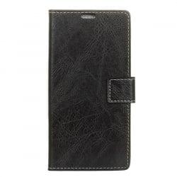 Xiaomi Mi 8 Lite Θήκη Βιβλίο Μαύρο Retro Crazy Horse Texture Horizontal Flip Leather Case with Holder & Card