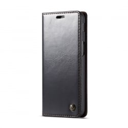 Samsung Galaxy J6 Plus Δερμάτινη Θήκη Βιβλίο Μαύρο Business Style Flip Leather Case Black