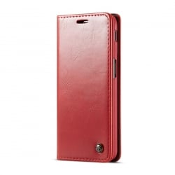 Samsung Galaxy J6 Plus Δερμάτινη Θήκη Κόκκινο Βιβλίο Business Style Flip Leather Case Red