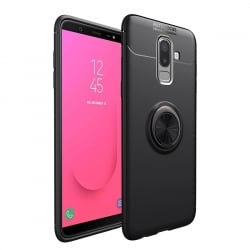Samsung Galaxy J4 Plus Θήκη Σιλικόνης lenuo Shockproof TPU with Invisible Holder Black