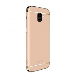 Samsung Galaxy J6 2018 Mofi Ultra-Thin Electroplating Side Protective Σκληρή Θήκη Χρυσή Με Χρυσό Περίγραμμα Hard Case Gold