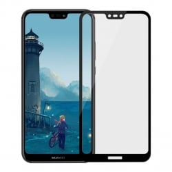 Huawei P20 Lite MOFI Full 2,5D Full Screen Μαύρο Προστατευτικό Τζαμάκι Tempered Glass Black