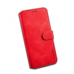 Samsung Galaxy J6 Plus DG.MING Θήκη Βιβλίο Flip Oil Book Case Red
