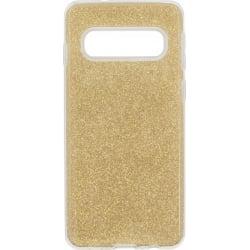 Samsung Galaxy S10e Θήκη Σιλικόνης Χρυσή Shining Silicone Case Gold