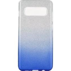 Samsung Galaxy S10 e Θήκη Σιλικόνης  Ombre Ασημί με Μπλε Silicone Case Blue