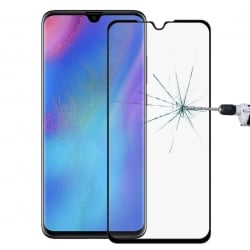 Huawei P30 Full Glue 9H Προστατευτικό Τζαμάκι Μαύρο Hardness Explosion-proof Full Screen Black