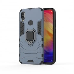 Xiaomi Redmi 7 Θήκη Με Σταντ TPU Shockproof with Magnetic Ring Holder Blue