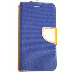Book Case Fancy Lumia 640 Blue Jean