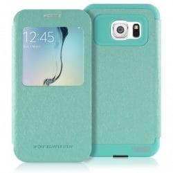 Samsung Galaxy S6 Edge Θήκη Βιβλίο Βεραμάν Goospery Book Case WOW Bumper View Mint