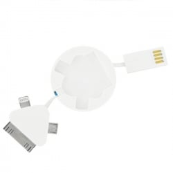 Καλώδιο 3 σε 1 iPhone 6/6s - 5/5s - iPhone 4/4s - micro usb 3in1 for Apple 30 Pin, Lightning and Micro-USB