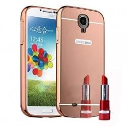 Samsung Galaxy S4 Θήκη Αλουμινίου Με Πλάτη Καθρέφτη Ροζ Mirror Hard Case Pink