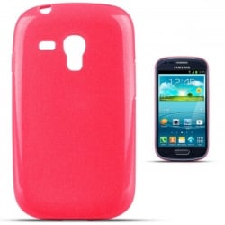 Samsung Galaxy S3 Mini Θήκη Σιλικόνης Ροζ Στρας Silicone Candy Case Pink