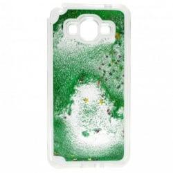 Samsung Galaxy Grand Prime Θήκη Σιλικόνης Με Κινούμενη Χρυσόσκονη Πράσινη Silicone Case Liquid Gitter Green
