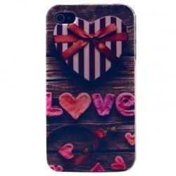 iPhone 4 / 4s Θήκη Σιλικόνης Αγάπη Silicone Case