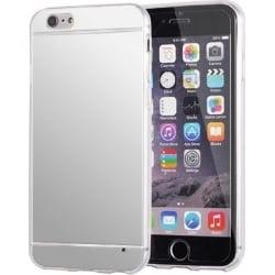 iPhone 6 Plus / 6s Plus Θήκη Σιλικόνης Καθρέφτης Ασημί Silicone Case Mirror Silver