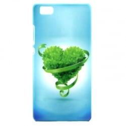 Huawei P8 Lite Σκληρή Θήκη Πράσινη Καρδιά Hard Case